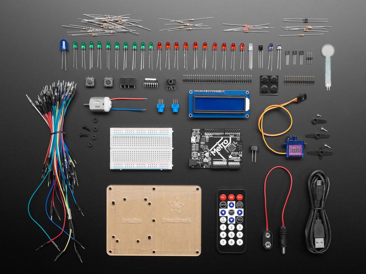 Adafruit Metrox Classic Kit Experimentation For Metro 328 Id Catalog Prototyping Breadboard Wiring Kits