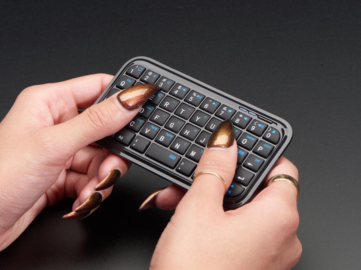 1faf49d5b51 Mini Bluetooth Keyboard – Black ID: 3601 - $12.95 : Adafruit ...