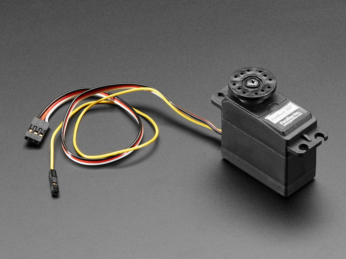 Feedback 360 Degree High Speed Continuous Rotation Servo