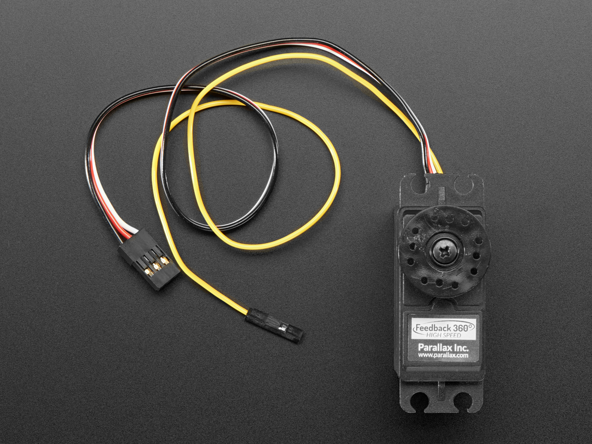 Feedback 360 Degree - High Speed Continuous Rotation Servo ID: 3614