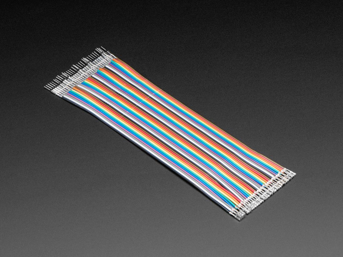"Premium Male/Female Raw Jumper Wires - 40 x 6"" ..."