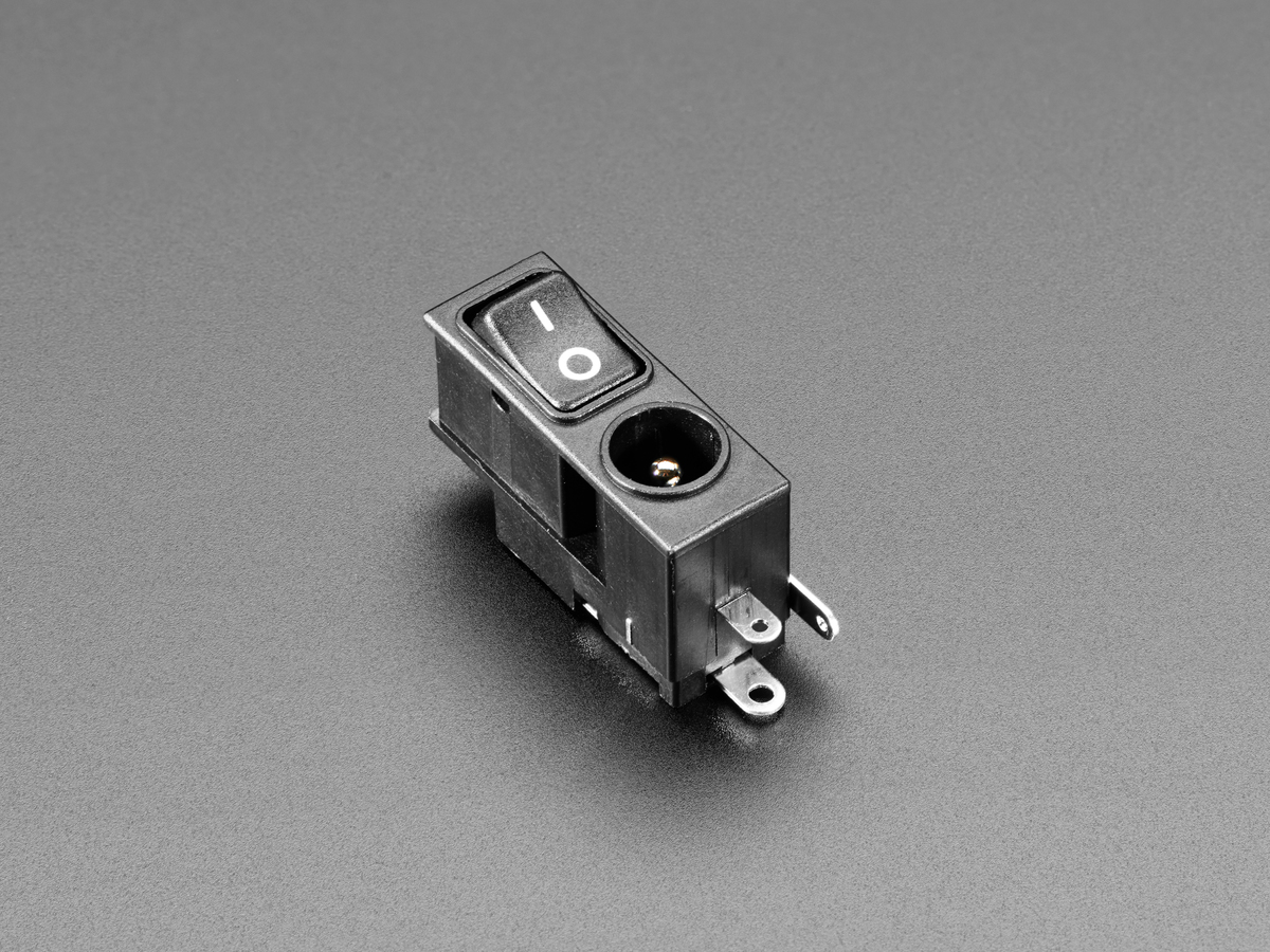 2.1mm DC Power Jack with Rocker Switch ID: 3643 - $1.95 ... on