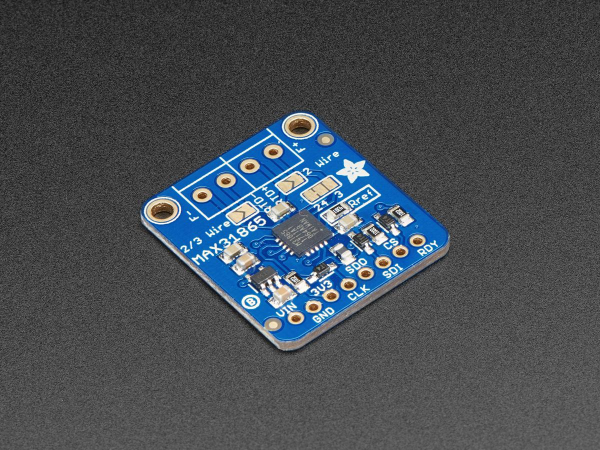 Adafruit PT100 RTD Temperature Sensor Amplifier - MAX31865 ID: 3328 ...