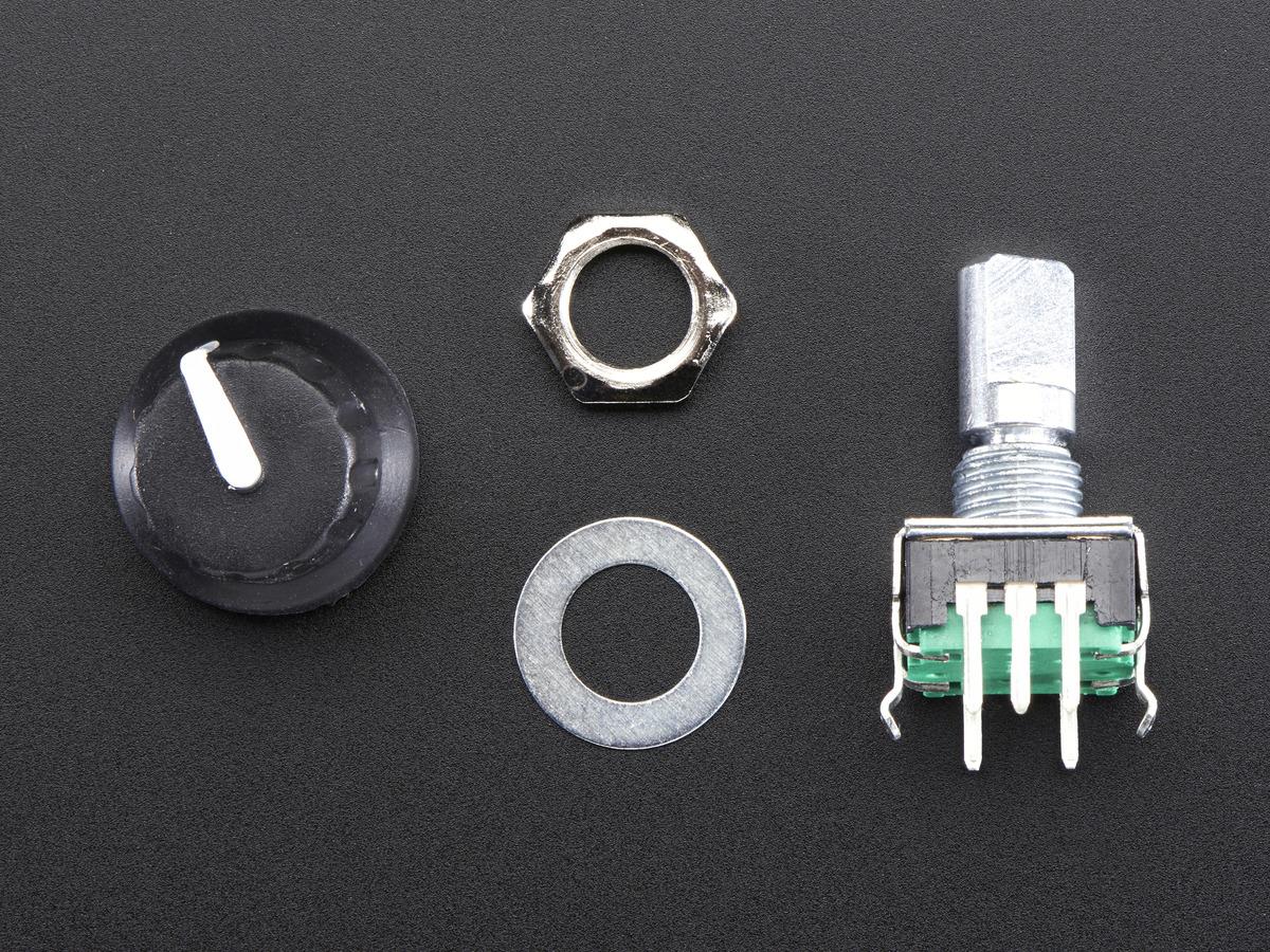Kit shot with encoder, knob and hardware