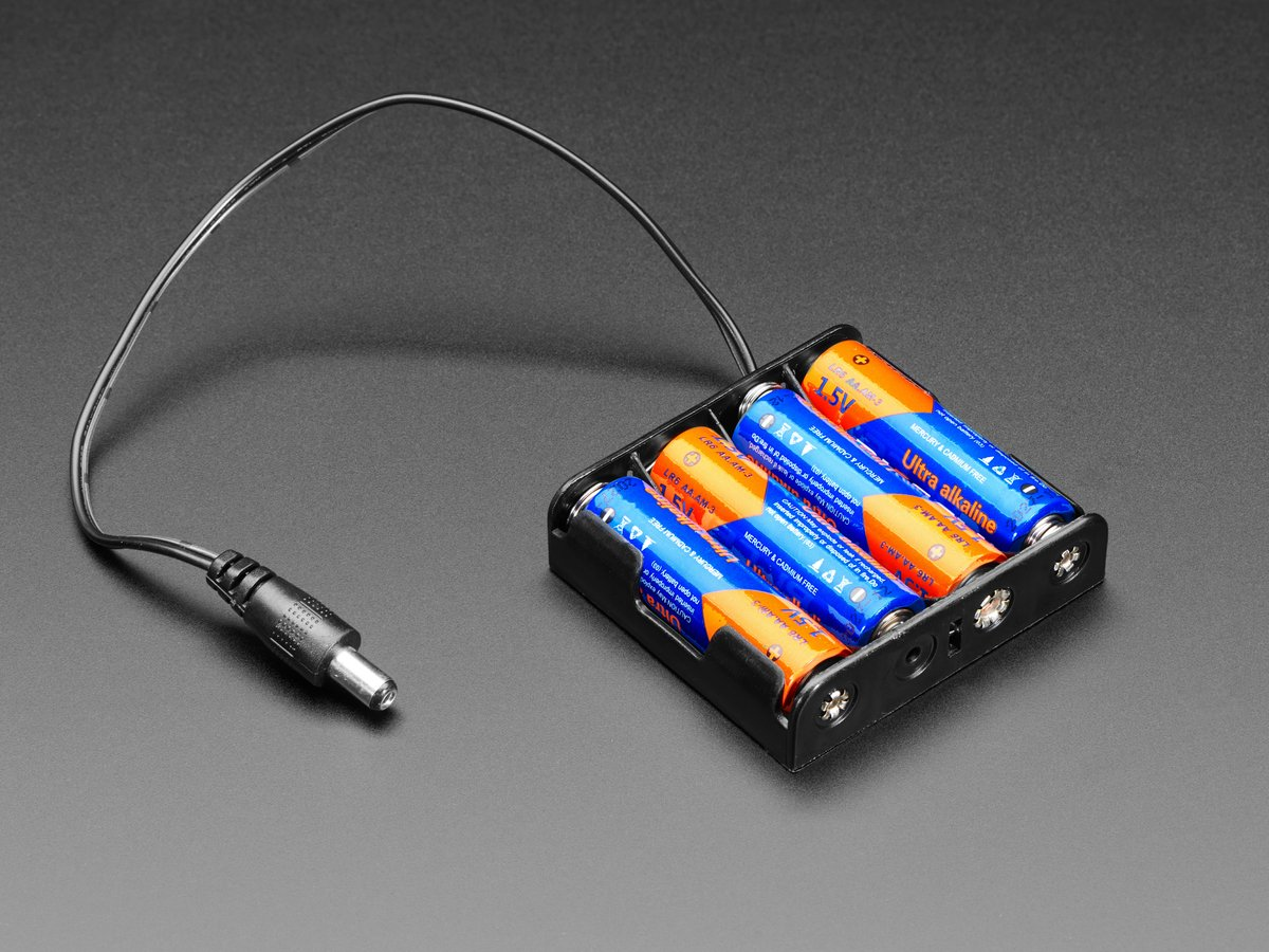 4 x aa battery holder with 2 1mm plug