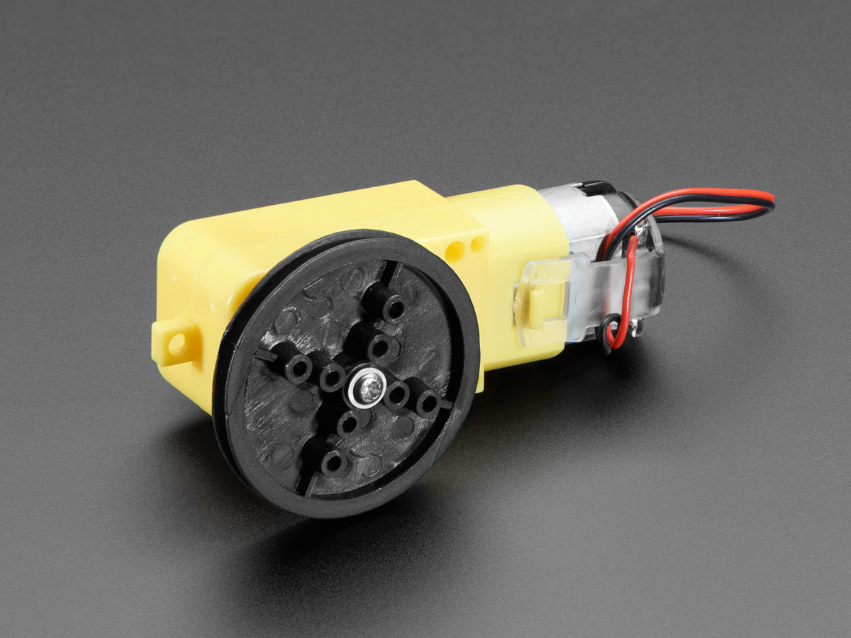 TT Motor Pulley - 36mm Diameter ID: 3789 - $0 75 : Adafruit