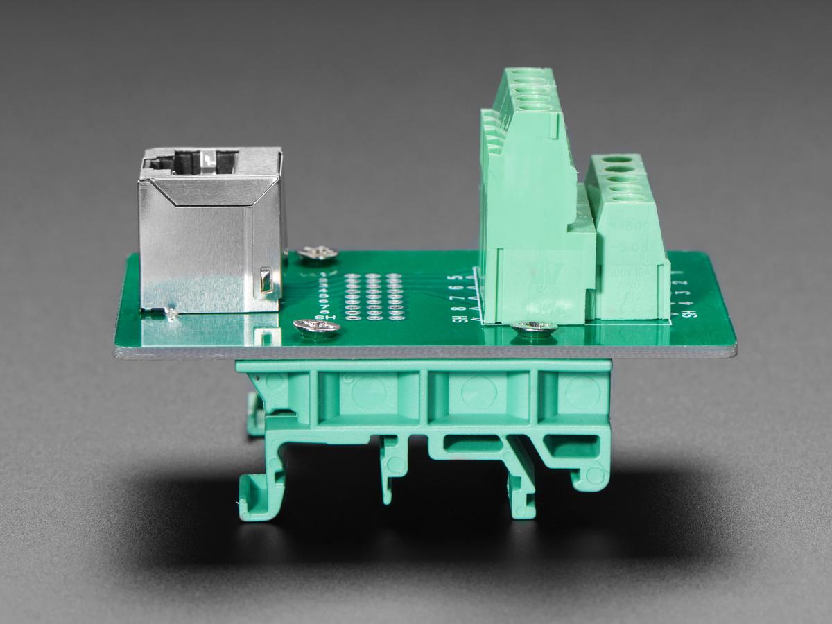 Din Rail Rj 45 To Terminal Block Adapter Vertical Jack