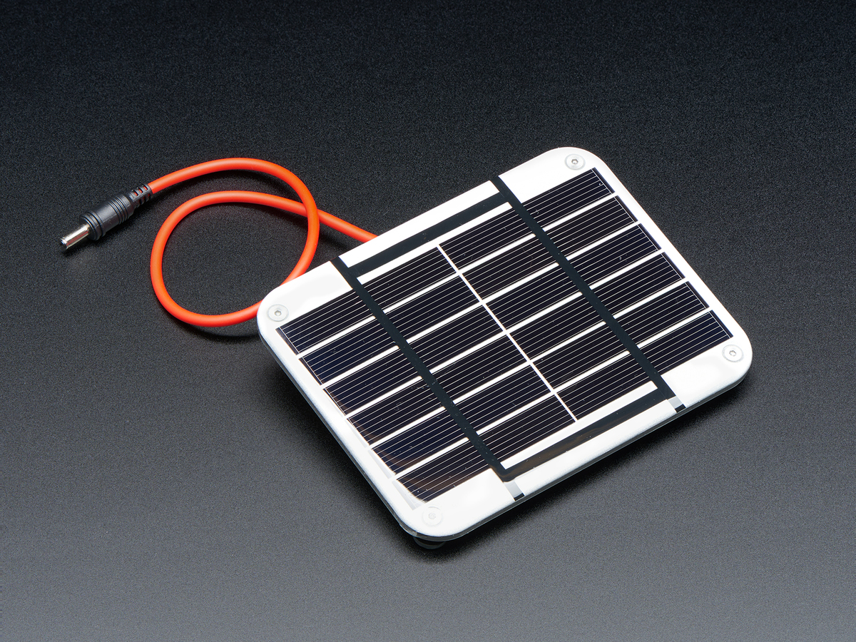 Small 6v 1w Solar Panel Silver Id 3809 1995 Adafruit Power Kit Wiring And Connections