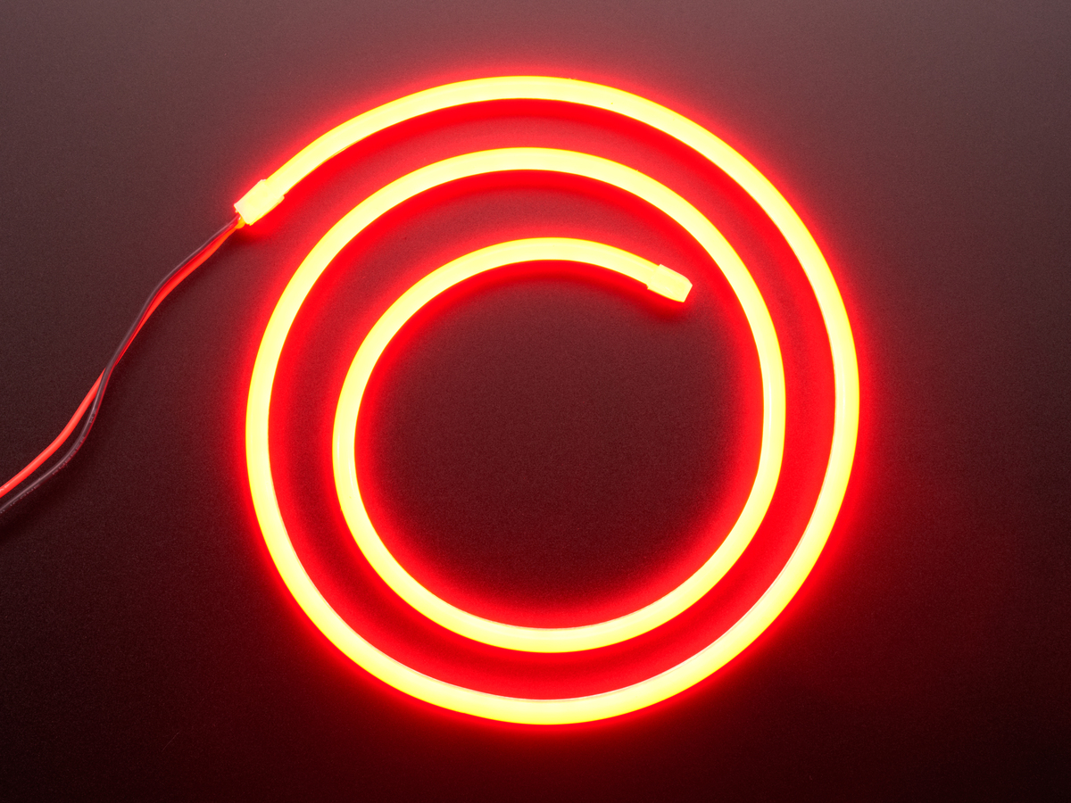Flexible Silicone Neon Like Led Strip 1 Meter Red Id