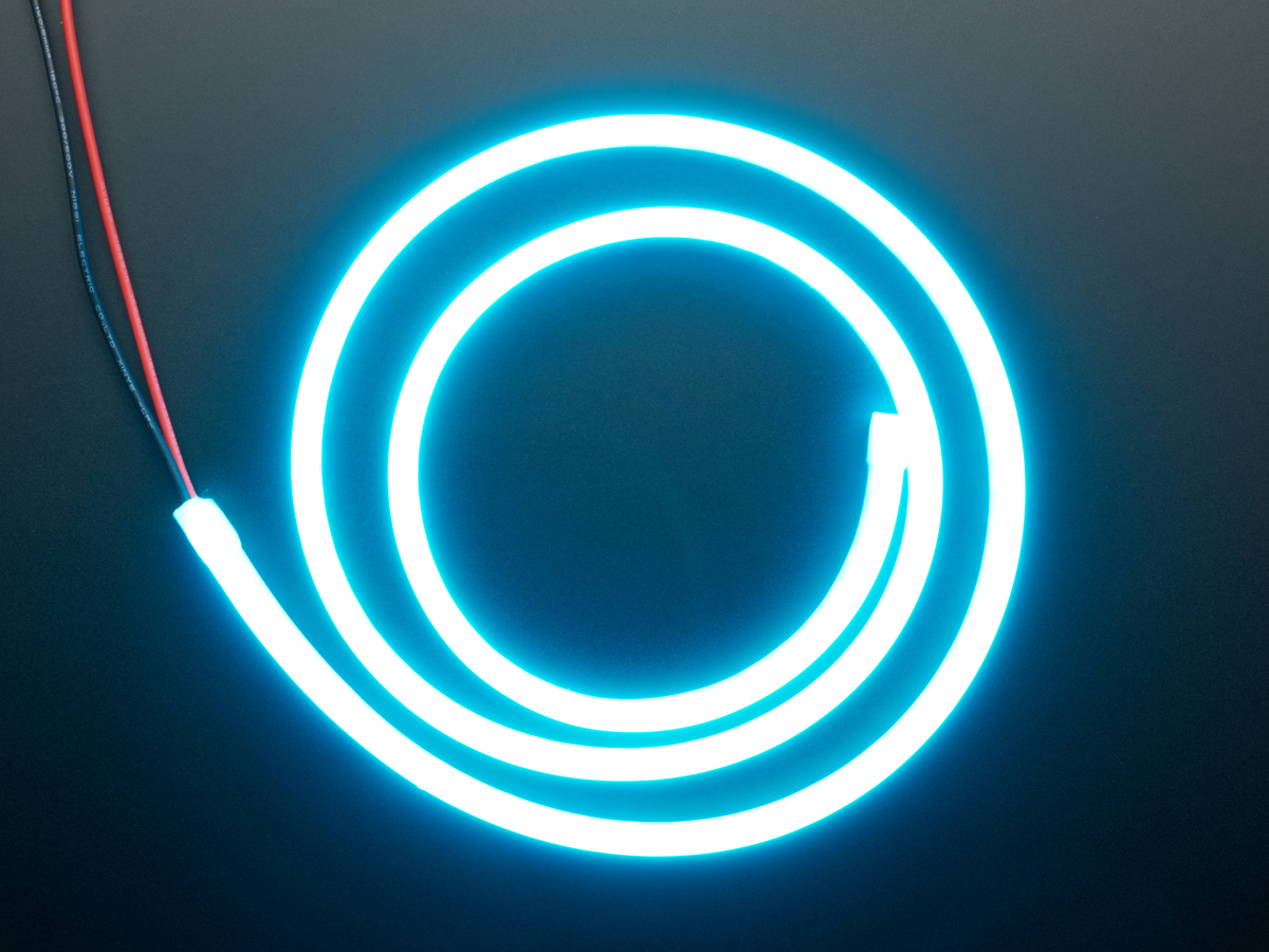 Flexible Silicone Neon Like Led Strip 1 Meter Ice Blue