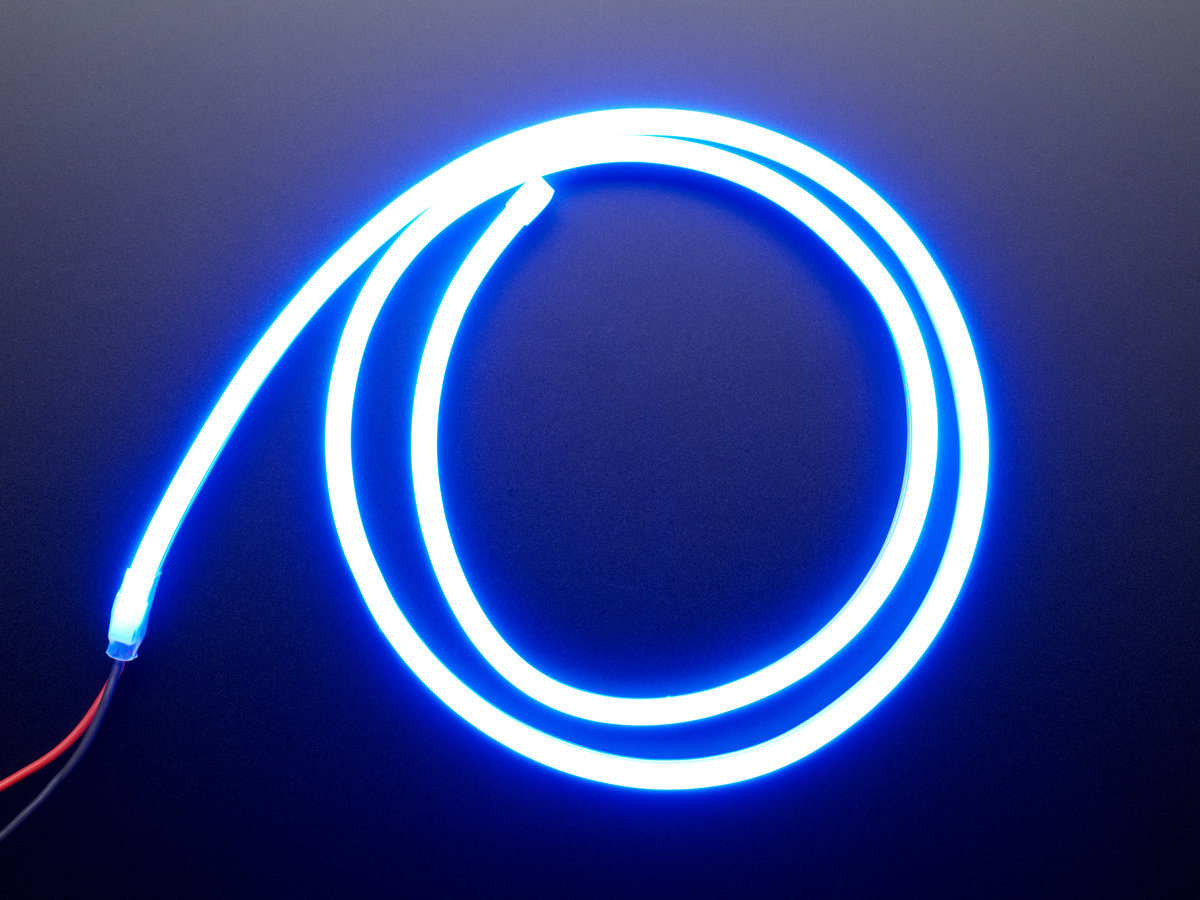 Flexible Silicone Neon Like Led Strip 1 Meter Blue