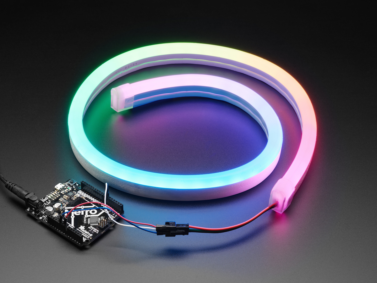 neopixel rgb neon like led flex strip with silicone tube. Black Bedroom Furniture Sets. Home Design Ideas