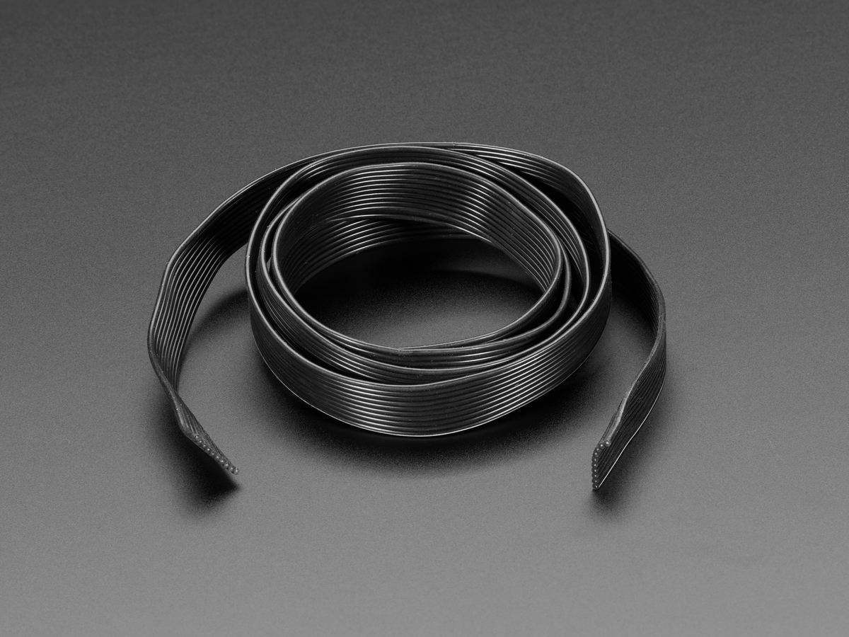 Silicone Cover Stranded-Core Ribbon Cable - 10 Wire 1 Meter Long ...