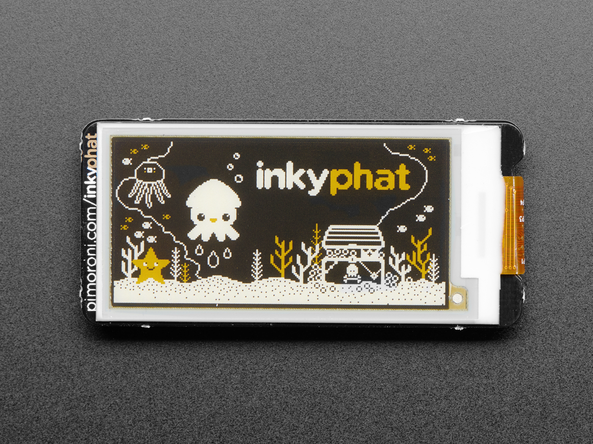 Pimoroni Inky pHAT - 3 Color eInk Display  Yellow Black White  ID ... e3a4407267d