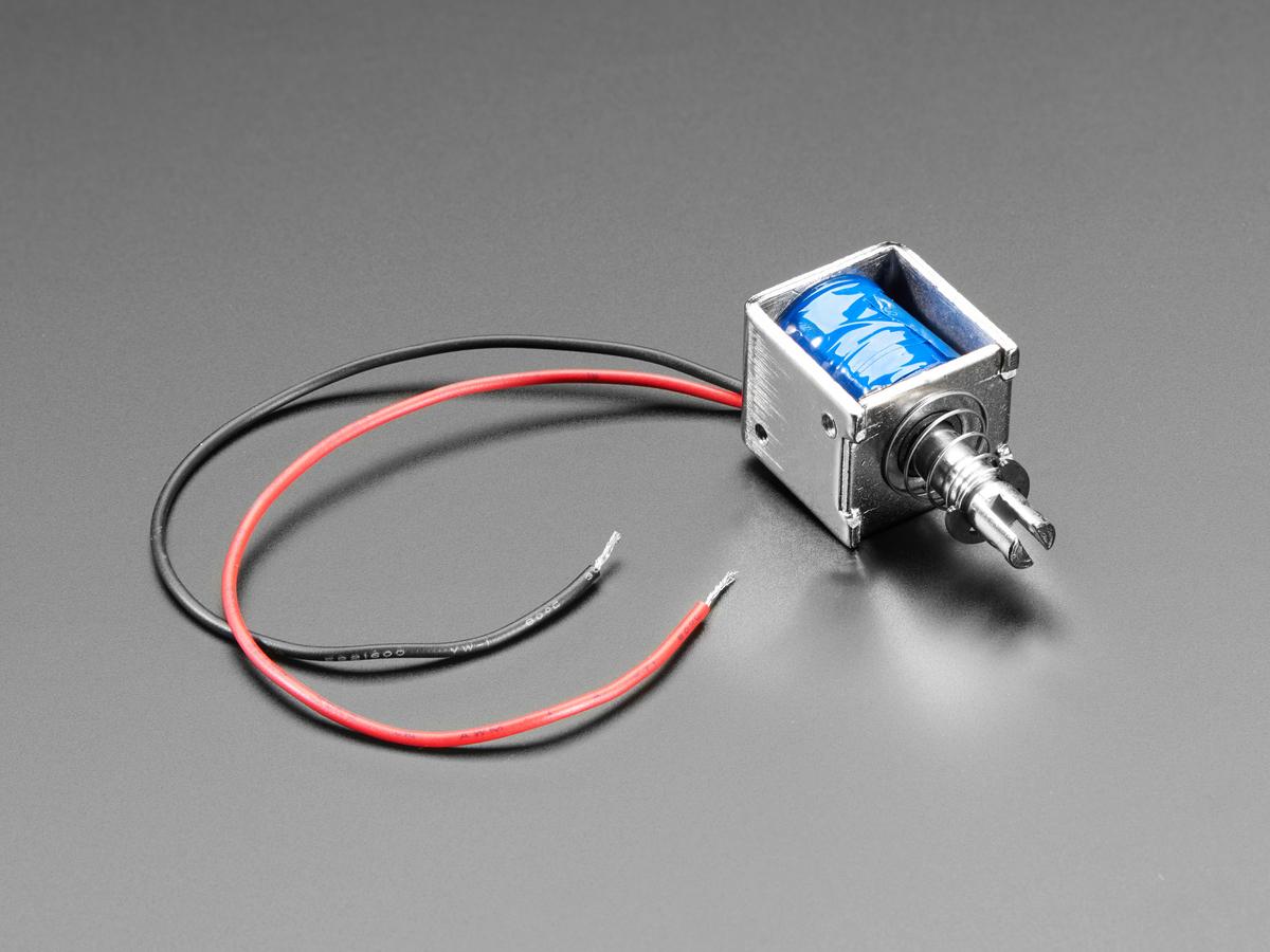 Medium Push-Pull Solenoid - 5V or 6V ID: 3992 - $7 50 : Adafruit