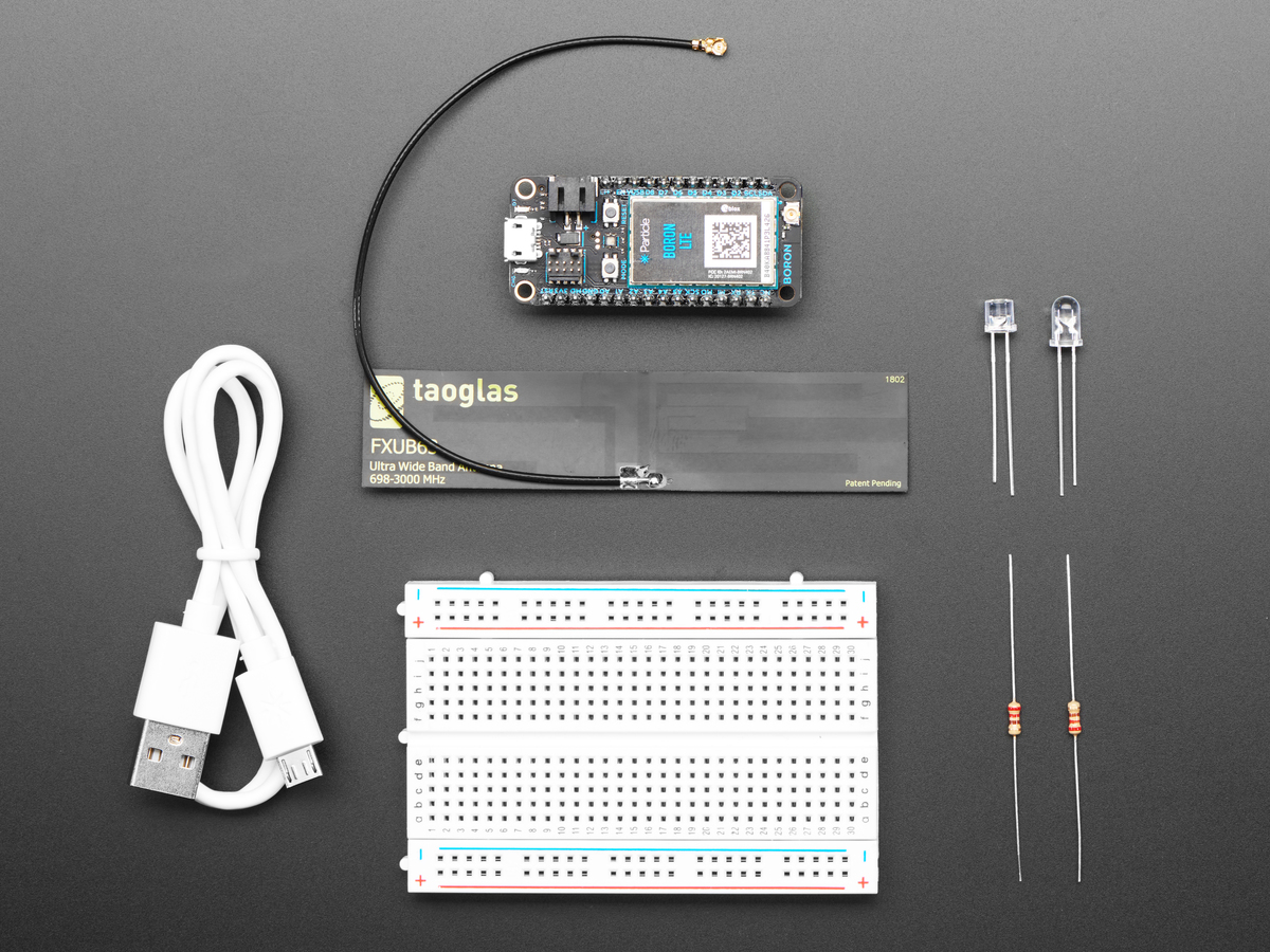 Particle Boron LTE Kit - nRF52840 with LTE Cellular Modem ID