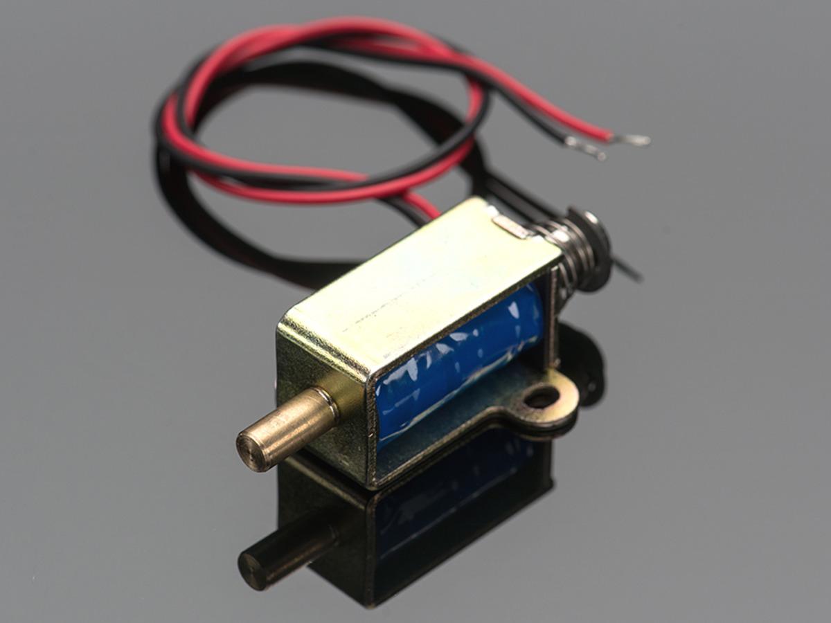 Small Push Pull Solenoid 12vdc Id 412 750 Adafruit 3 Position Switch Wiring Diagram
