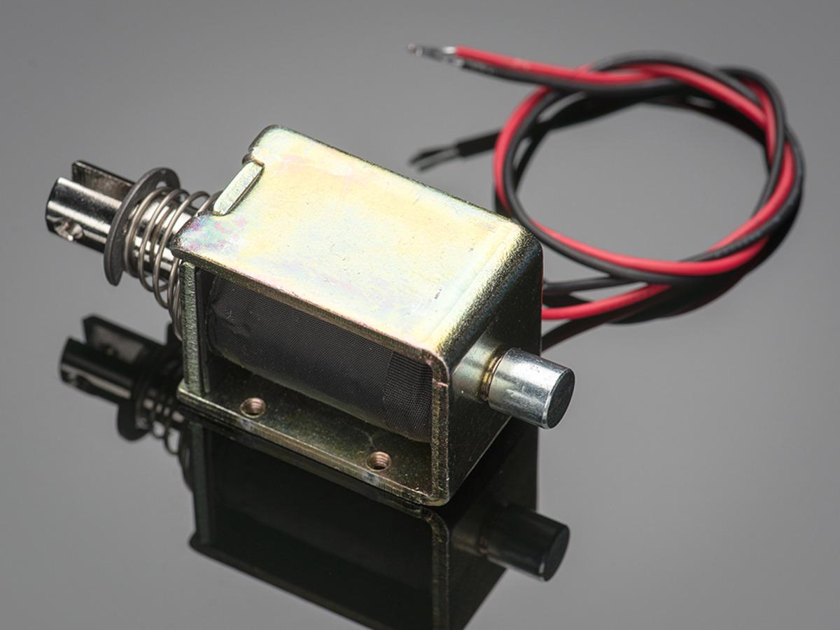 Large push-pull solenoid ID: 413 - $14 95 : Adafruit