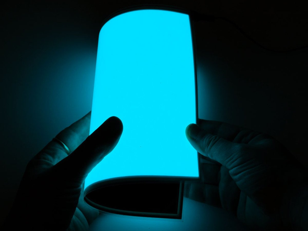Electroluminescent El Panel 20cm X 15cm Aqua Id 414