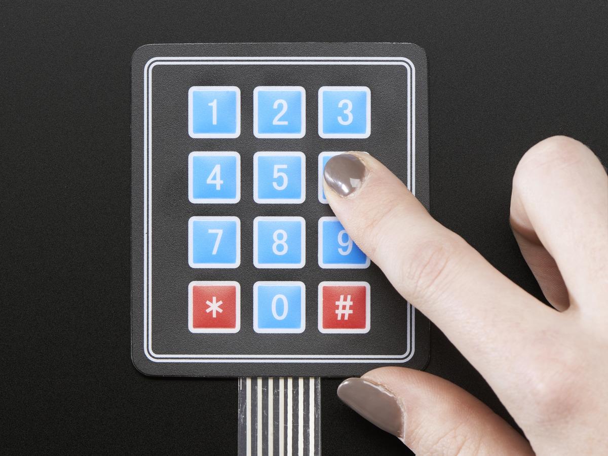 Membrane 3x4 Matrix Keypad + extras - 3x4 ...