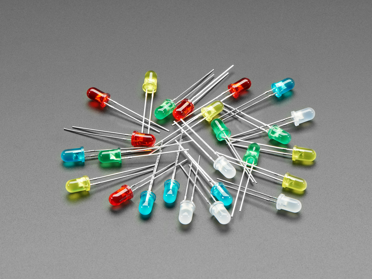 Tri-colour 5mm LED Green and Yellow Pack of 5