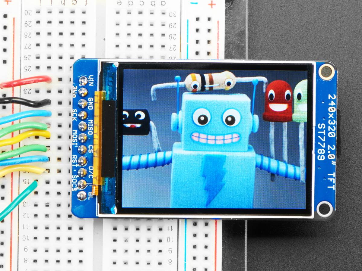 2 0 320x240 Color IPS TFT Display with microSD Card Breakout