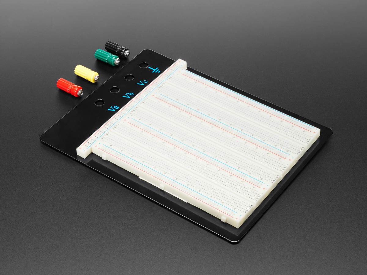 Breadboard Tips Tricks Breadboards For Beginners Adafruit Solderless Provide A Way Of Creating Circuit Without Large