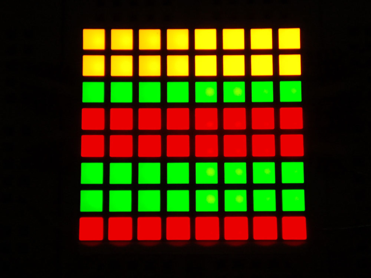 Adafruit Bicolor Led Square Pixel Matrix With I2c Backpack Id 902 Bi Color Wiring Diagram Small 12 8x8 Red Green