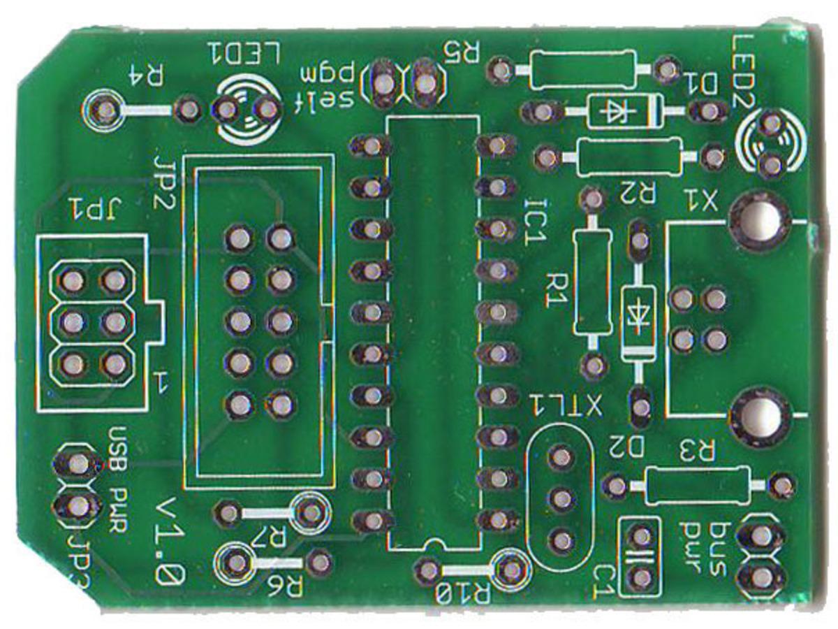Usbtinyisp Avr Programmer Kit Usb Spokepov Dongle V20 Id 46 Isp In Sytem For Atmel