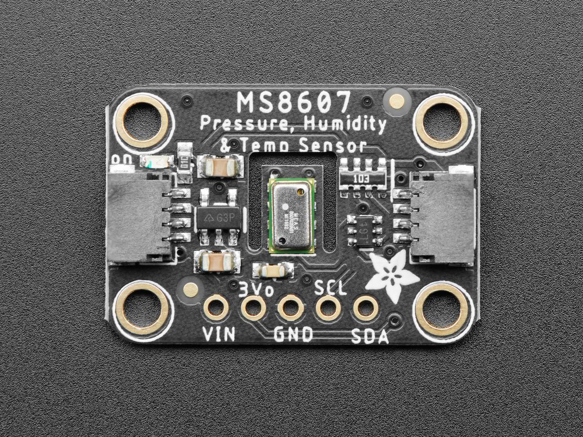 Temperatur Adafruit MS8607 PHT-Sensor f/ür Druckfeuchtigkeit STEMMA QT//Qwiic