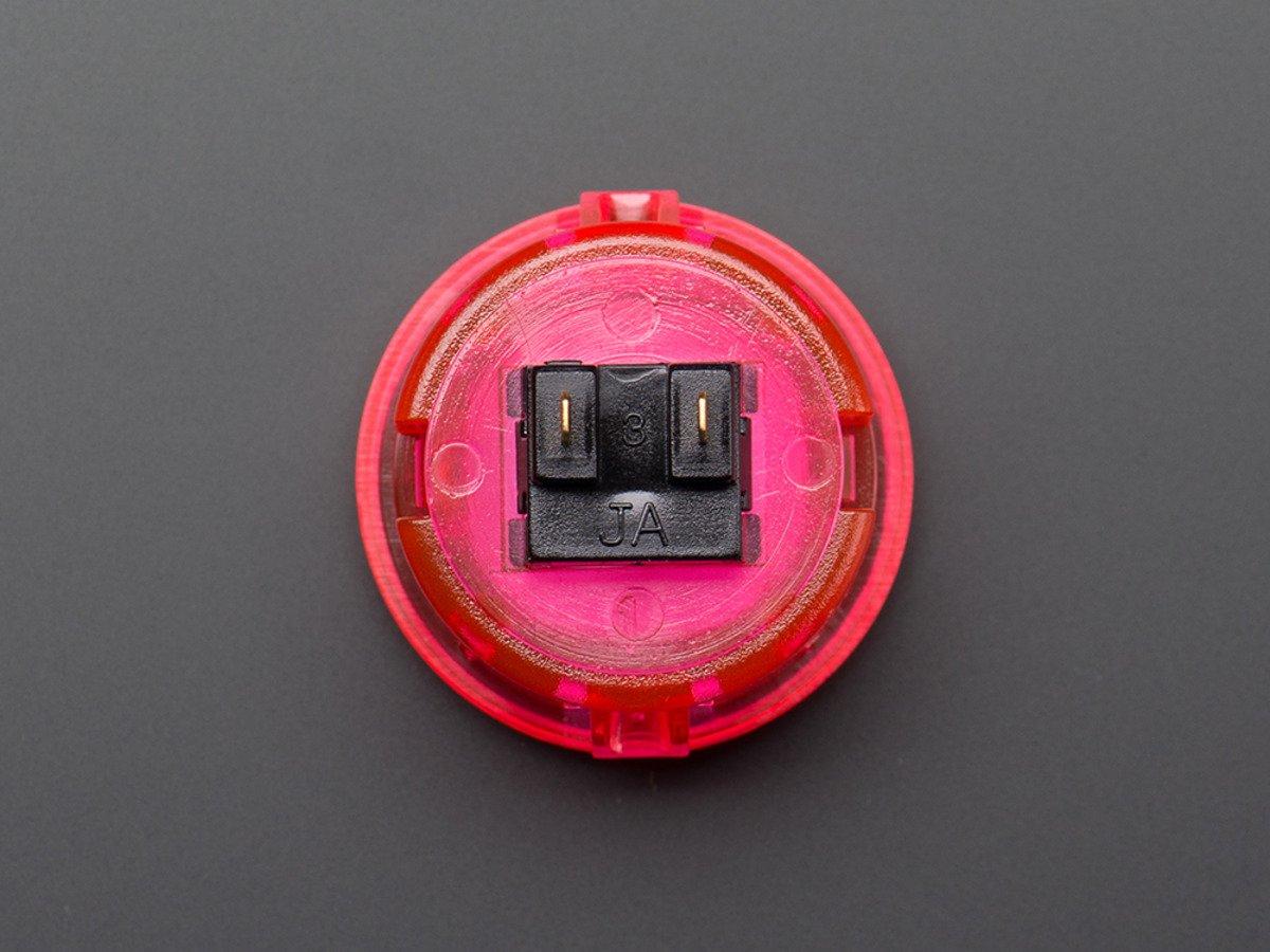 Arcade Button - 30mm Translucent Pink ID: 472 - $5 95