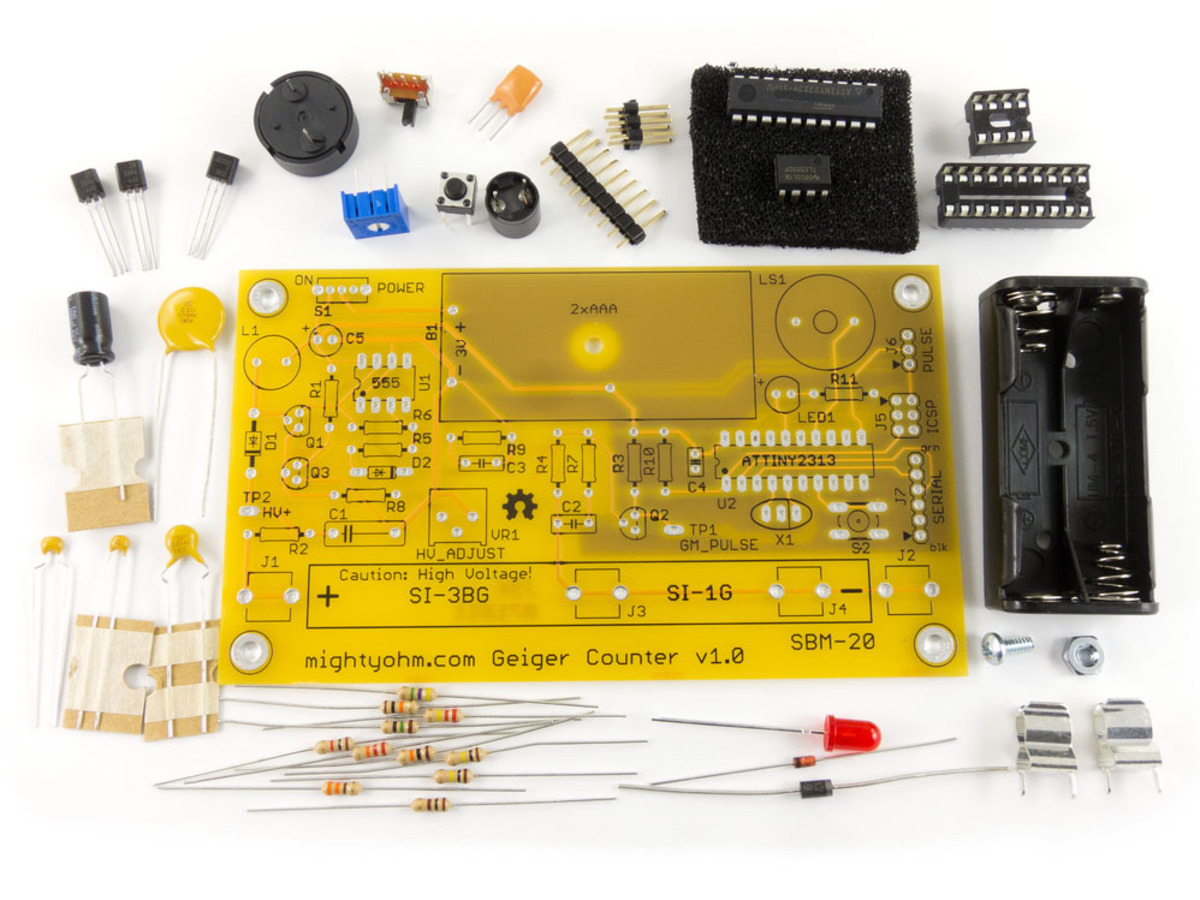 Geiger counter kit radiation sensor id