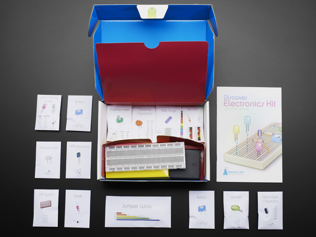 Discover Electronics Kit 20 Id 487 4995 Adafruit Kids Learn Science 2 Electronic Snap Circuit Kits You Univesity