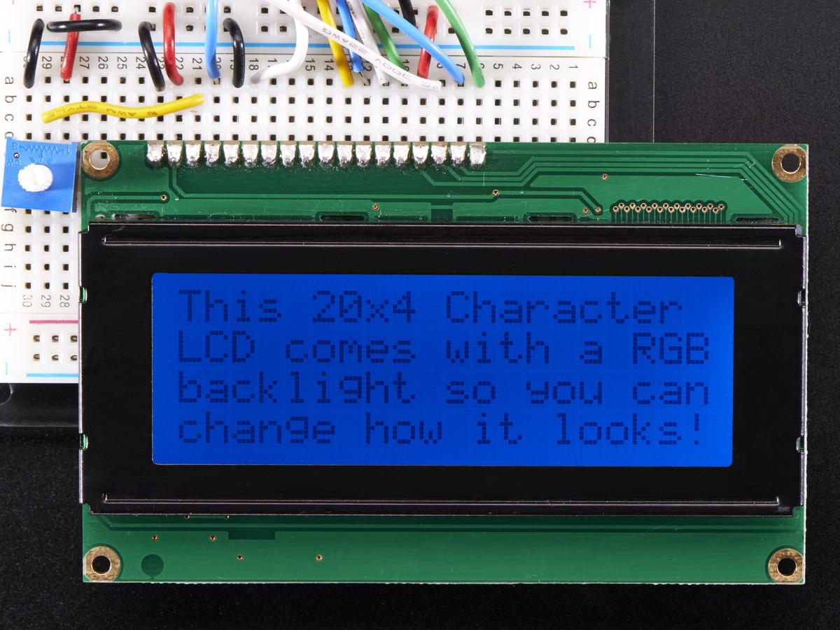 Rgb Backlight Positive Lcd 20x4 Extras Black On Rgb Id
