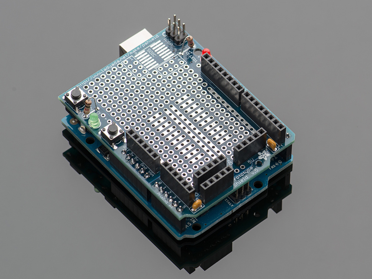 Adafruit Proto Shield For Arduino Kit V 5 Id 51 15