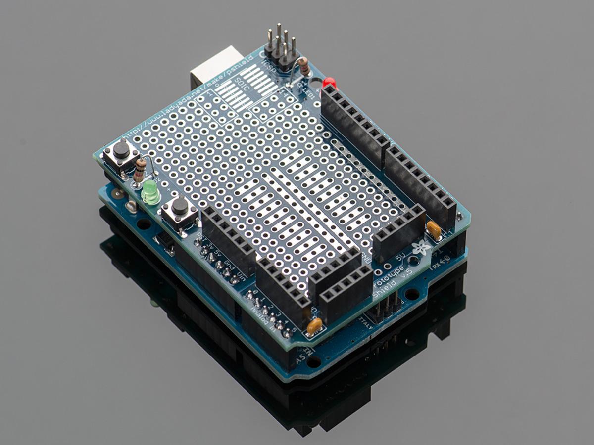 Adafruit proto shield for arduino kit v id