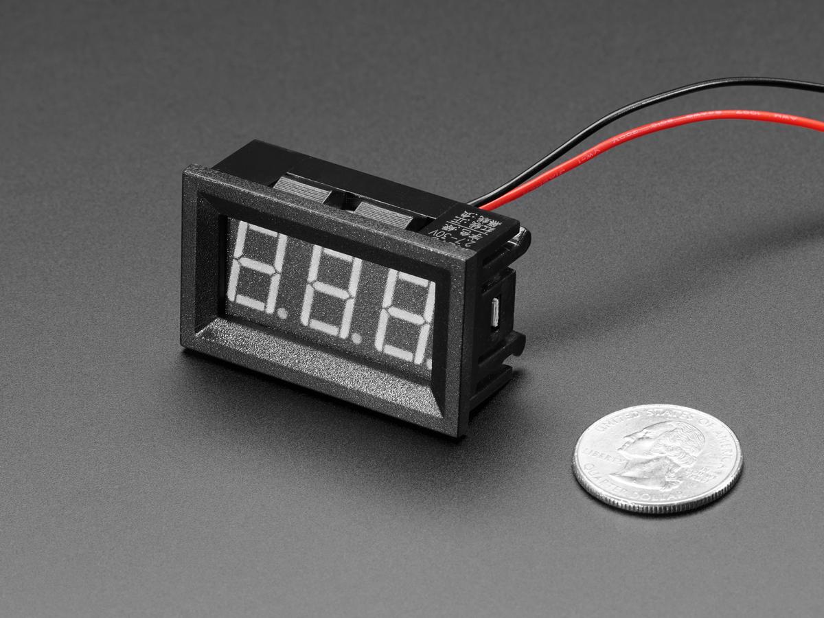 Panel Volt Meter 45v To 30vdc Id 575 795 Adafruit Digital Dc Watt Project Using Pic Microcontroller