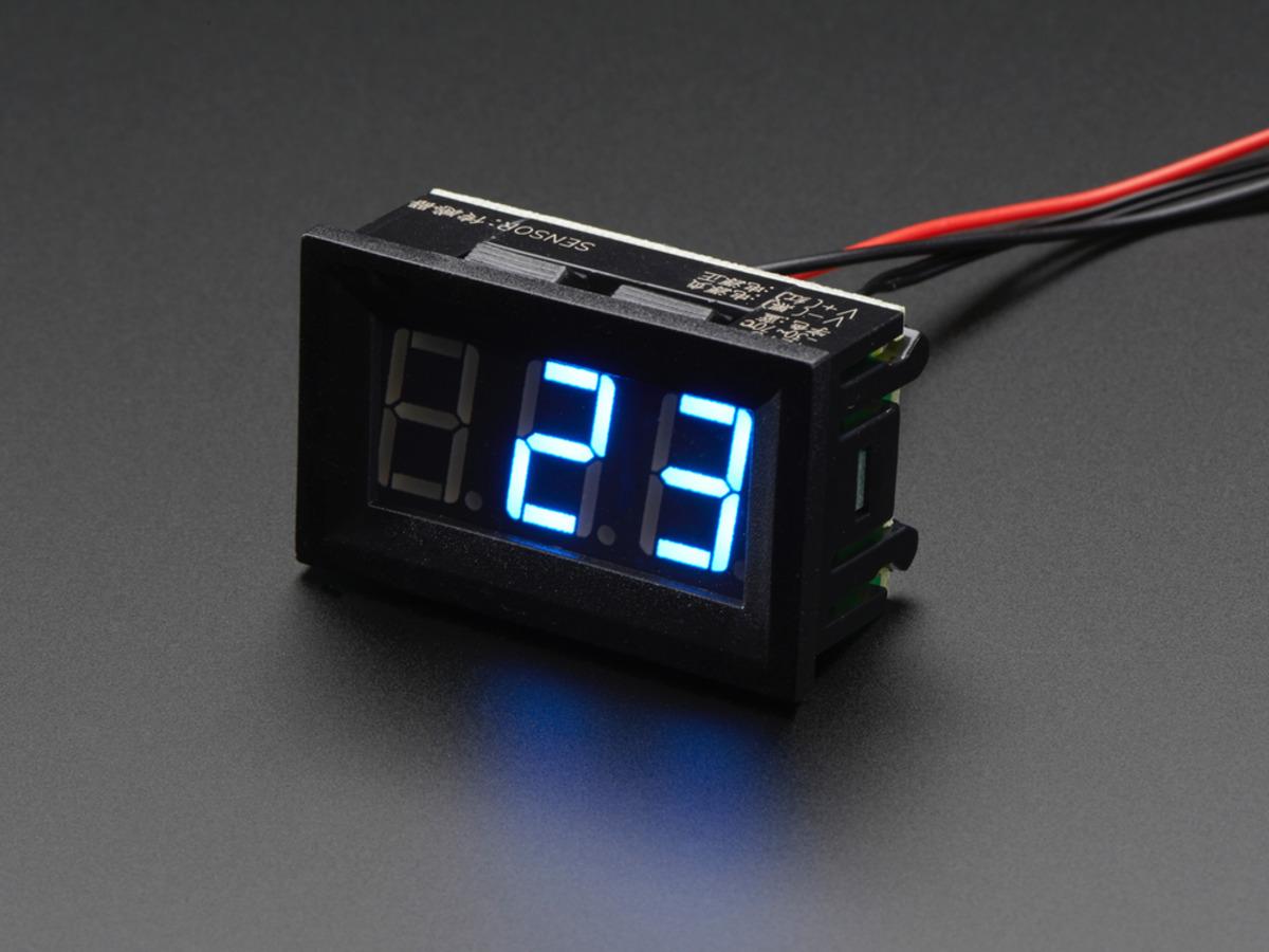 Mini 2 Wire Volt Meter 32 30 Vdc Id 460 795 Adafruit Wiring Diagram On For Digital Ammeter Panel Temperature To 70 C
