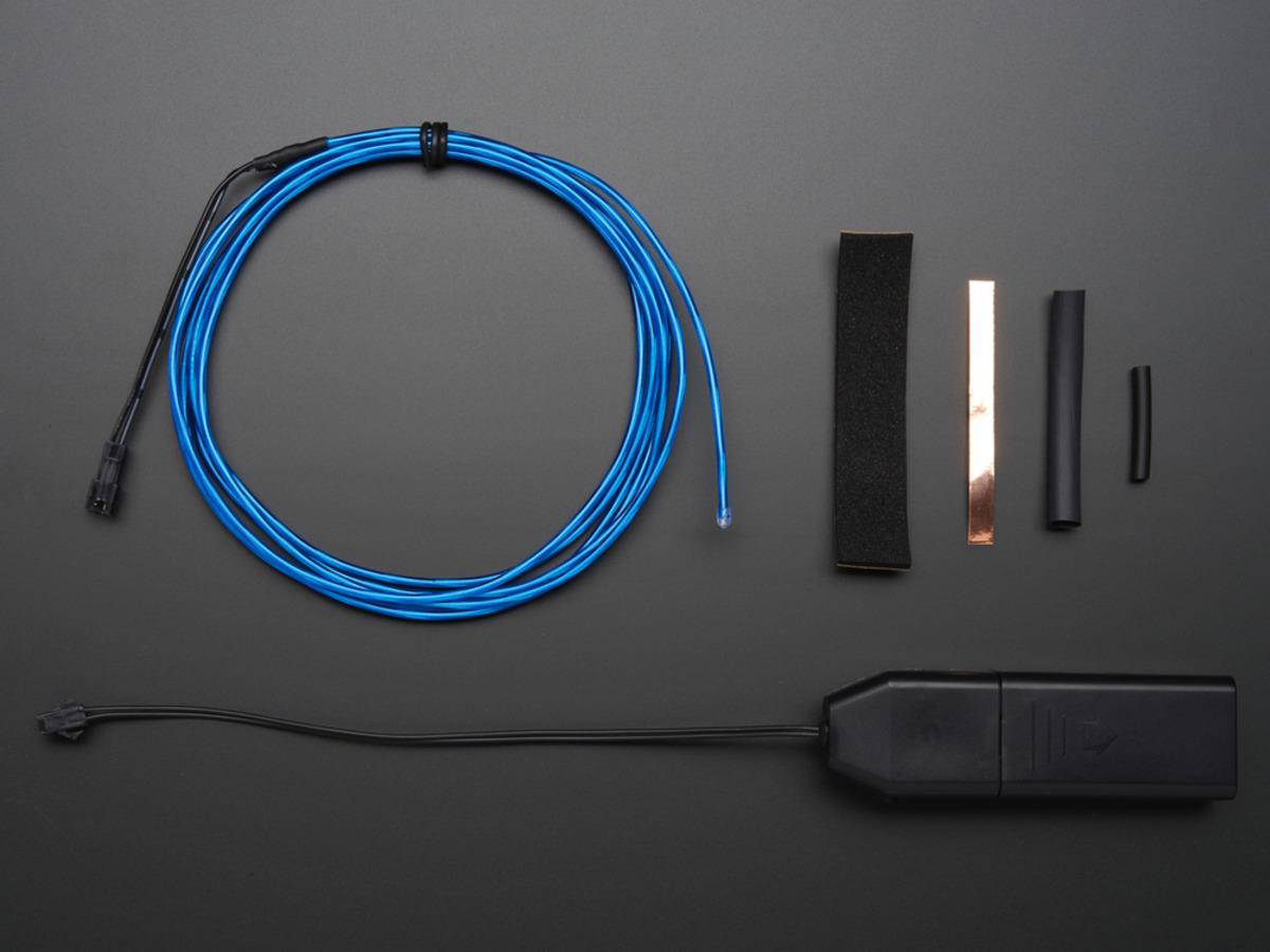 EL wire starter pack - Blue 2.5 meter (8.2 ft) ID: 583 - $19.95 ...