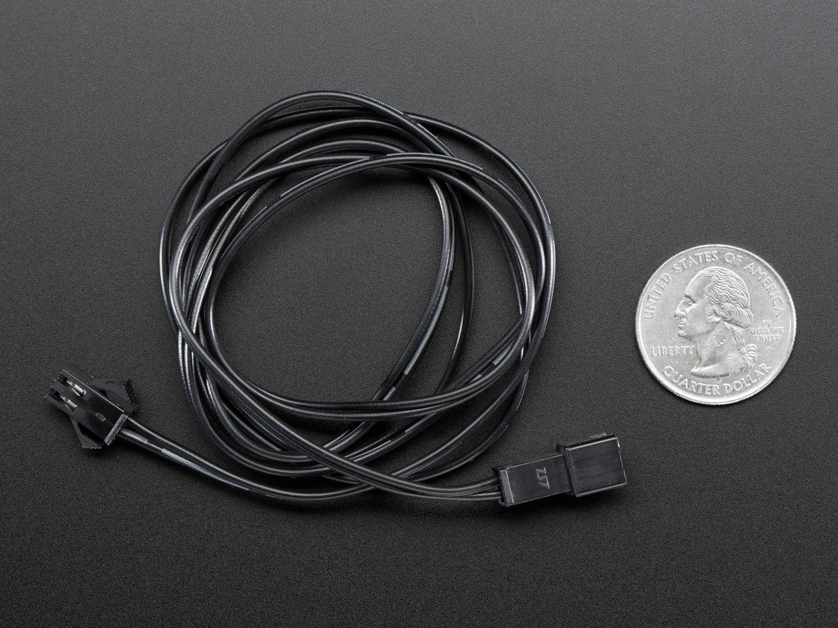 In-line power cable 1 meter long extension cord (for EL wire) ID ...