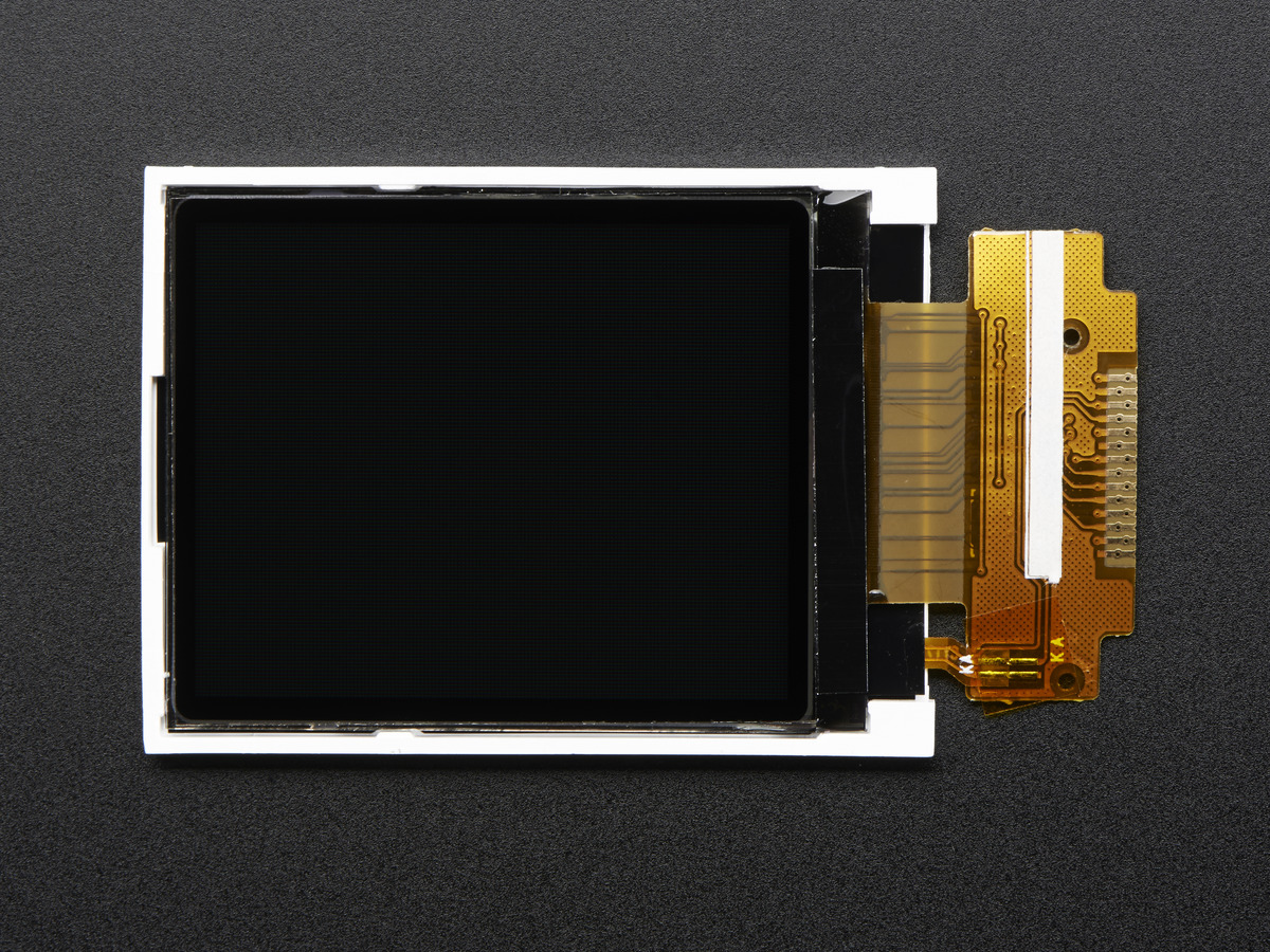 1 8 SPI TFT display, 160x128 18-bit color - ST7735R driver ID: 618