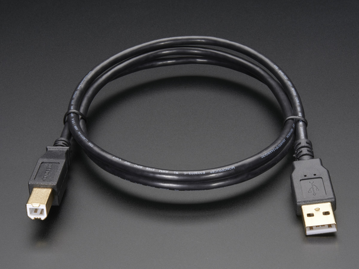 Usb Cable Standard A B 3 Ft 1m Id 62 2 95