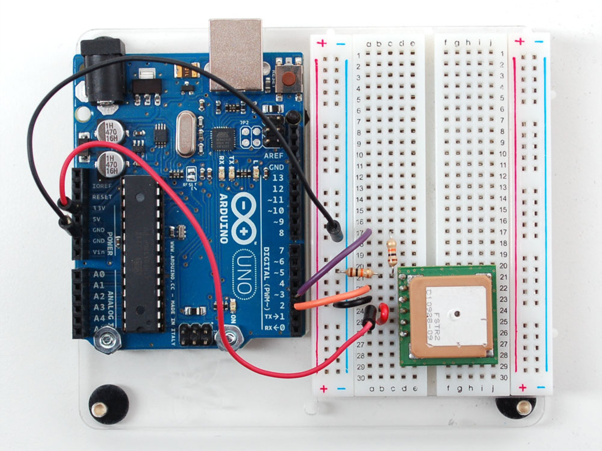 Up501 Breadboard Friendly 66 Channel Gps Module W 10 Hz Updates Have The New Power Lines Soldered To Circuit Board When I Mtk3329