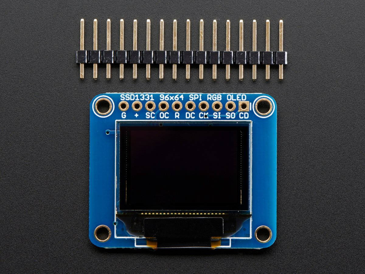 "... OLED Breakout Board - 16-bit Color 0.96"" ..."