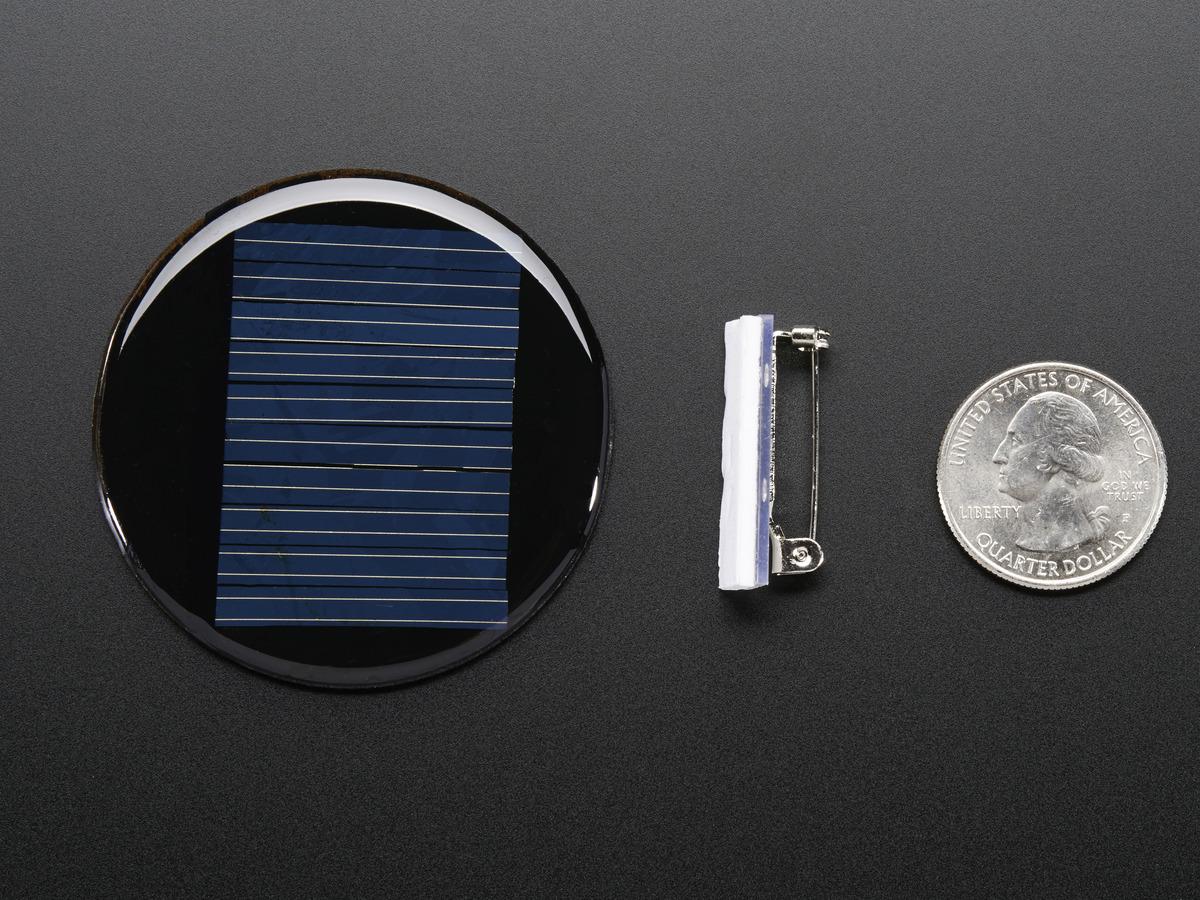Round Solar Panel Skill Badge 5v 40ma Id 700 2 95