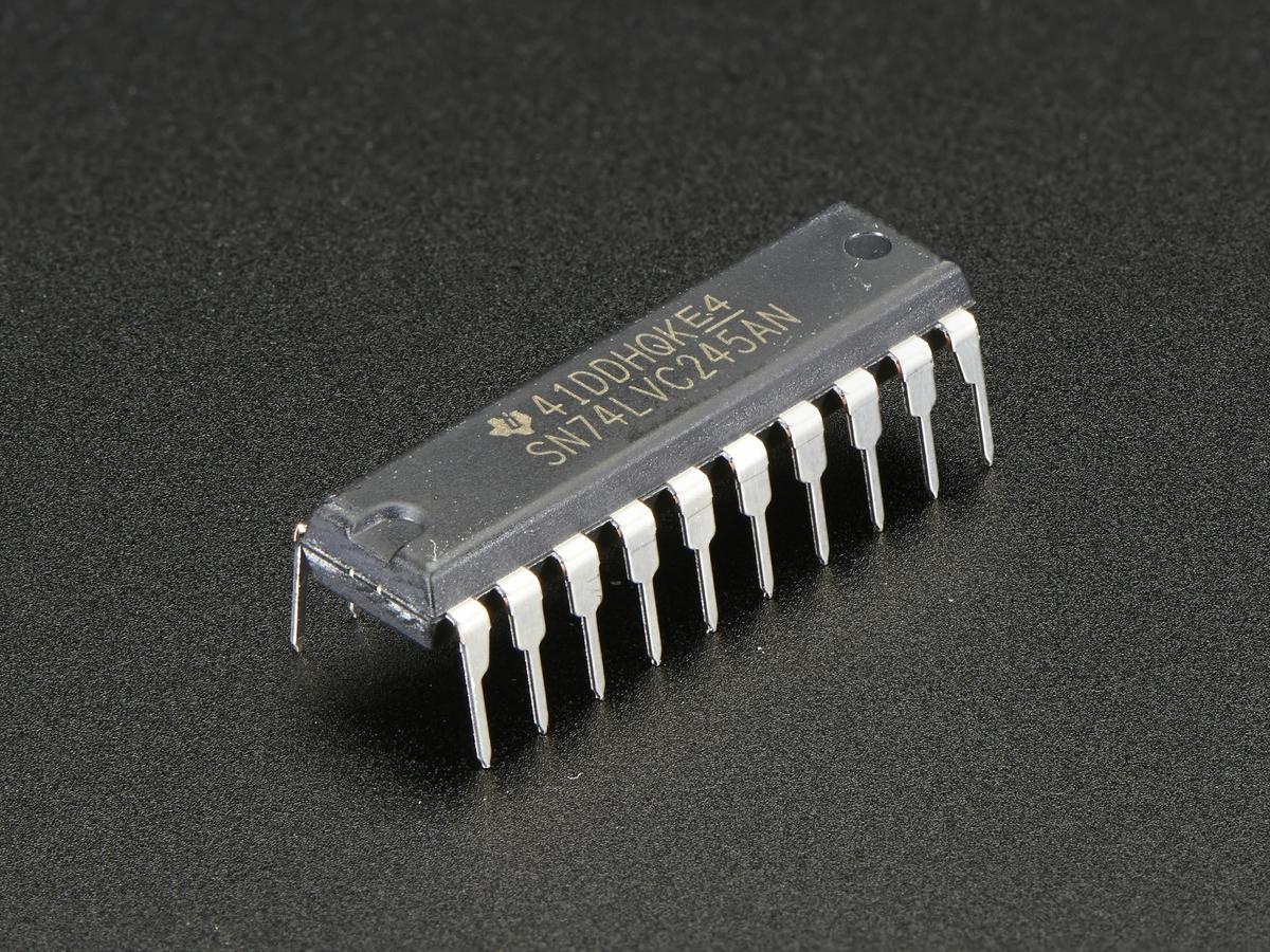 74lvc245 Breadboard Friendly 8 Bit Logic Level Shifter Id 735 Ttl To Rs232 Converter Using Transistor Circuit