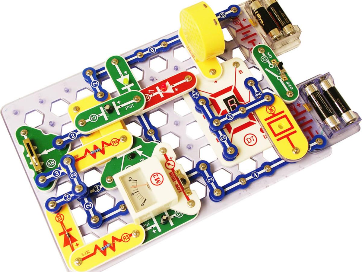 Snap Circuits 174 Pro 500 Experiments Elenco Sc 500 Id 740