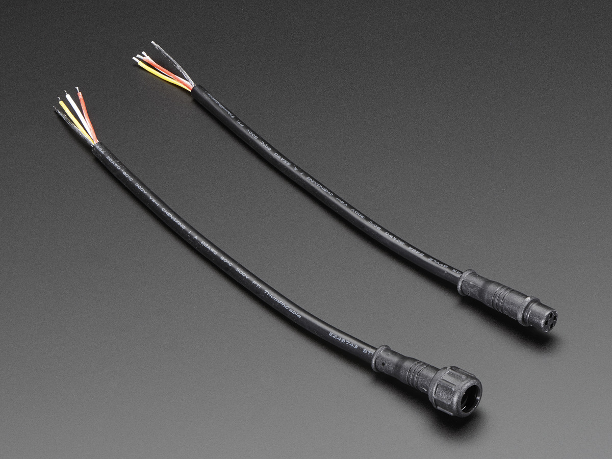 Waterproof Polarized 4 Wire Cable Set Id 744 250 Adafruit Diy Power Point Wiring