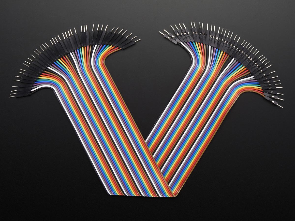 premium male male jumper wires 40 x 6 150mm id 758 3 95 rh adafruit com