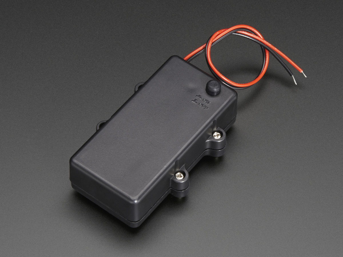 Waterproof 2xaa Battery Holder With On Off Switch Id 770